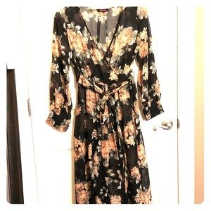 Chiffon sheer dress